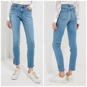 NEW J Brand 811 Mid Rise Skinny Faded Crop Jeans